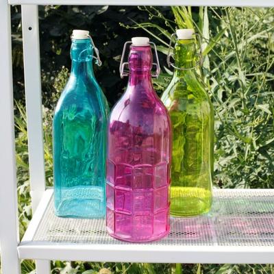 glasflasker i farver